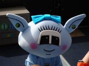 Moonbeam, one of Manchester City's mascots
